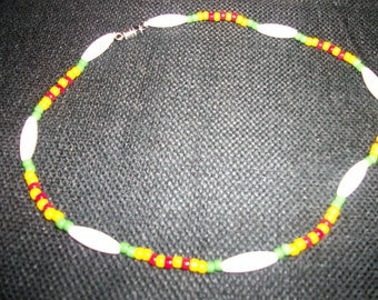 Vietnam / Viet Nam Service Ribbon Necklace with WHITE seperator Beads