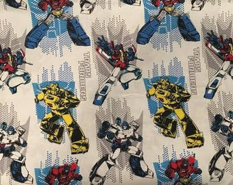 TRANSFORMERS ~ Cotton Fabric by the Yard