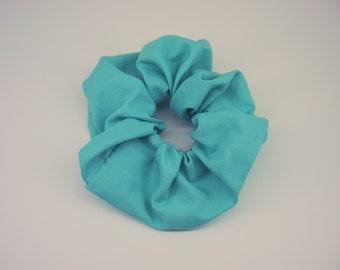 Big Blue Scrunchie, Sky Blue Scrunchie Hair Accessories, Blue Hair Ties, Large Soft Hair Tie, Gifts