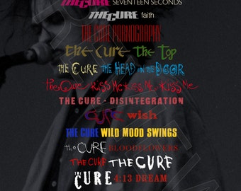 Tshirt - The Cure: Discography (1979-2008)