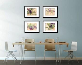 Food Photography - Kitchen Art - Lettuce - Set of Four (4) Lettuce Photos - Fine Art Photography Prints - Kitchen/Dining Room Decor