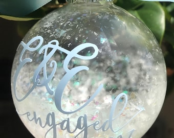 Christmas Ornament - Personalized Glass Christmas Ornament - Custom Monogram Christmas Ornament - Glass Ball Ornament