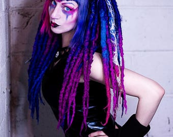 Circuit Witch 4x6'' Print - Alien Cyborg Robot Space Babe Clown Synthetic Dreads Cybergoth Cyber Goth Alt Alternative Model Creepy