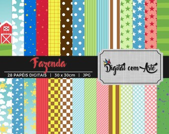 50% OFF - Farm Digital Paper