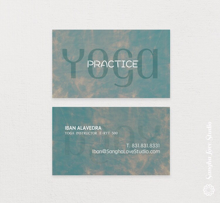 Practice Yoga Yoga Business Card or Wellness Yoga Business