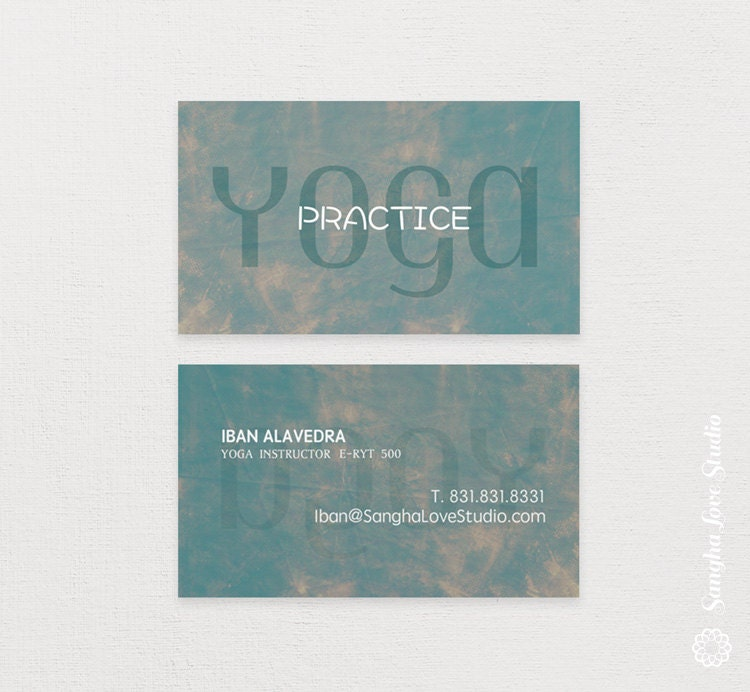 Practice Yoga Yoga Business Card or Wellness Yoga Business