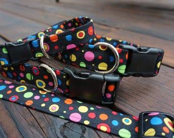 Colorful Circles - Adjustable Dog Collar