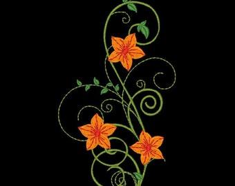 FANCY FLOWERS #7- 1 Machine Embroidery Design Instant Download 4x4 5x7 6x10 hoop (AzEB)