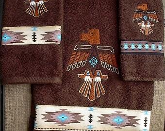 Thunderbird Towel set (Native American)