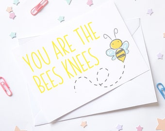 Bumble bee A6 notes of kindness Note Cards and envelopes Set of 6 / bees/ yellow / black / gift cards / post cards / notelettes / stationery
