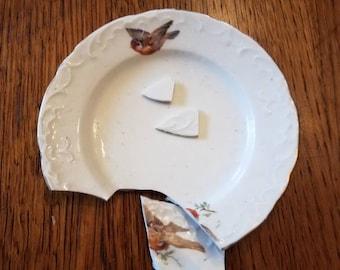 Broken Antique Bird China for your Mosaic Creating Pleasure