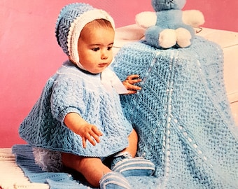 PATONS 6292 Vintage Baby Knitting Pattern Instant Download!