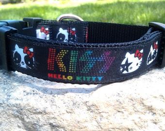 Kiss The Kitty 1 Inch Width Dog Collar