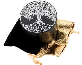 """Tree of Life Laser Etched Design 2.5"""" Large Size Herb Grinder Item # ETCH-G013017-44"""