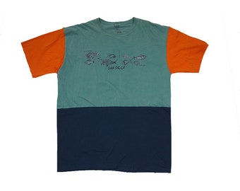 Upcycled Color Block Cabo Tee