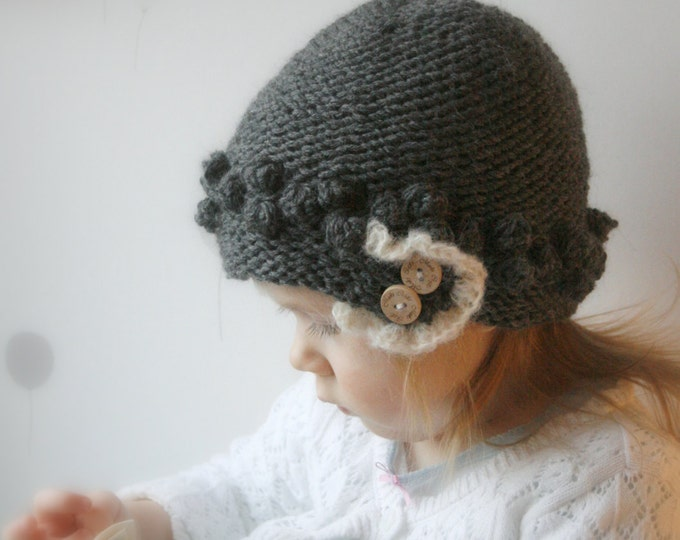 KNITTING PATTERN beanie hat Stella (baby/ toddler/ child/ woman sizes)