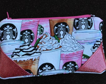 Pink Starbucks Cups Pouch
