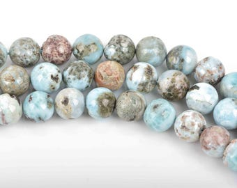 6mm NATURAL LARIMAR Round Beads full strand about 65 beads, glr0005