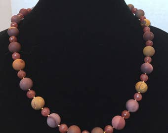 Mookaite and Muscovite Necklace
