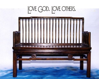 Love God - Love Others Vinyl Wall Decal (I-006)