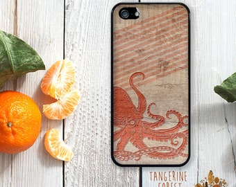 Vintage Kraken On Wood. Available for iPhone 4/4s, 5/5s, 5c, 6/6s or 6+/6s+