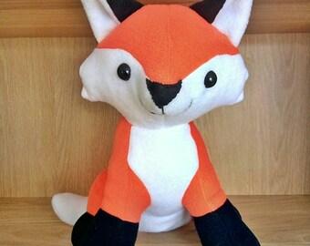 "Fox Plush, Ready To Ship, Soft Toy Fox, Cuddly Fox, 12"" Plush"