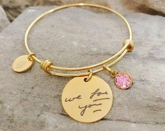 Handwriting Bracelet - Memorial Bracelet - Hand Writing Jewelry - Memorial Jewelry - Actual Handwriting - Keepsake Bracelet - Signature Gift