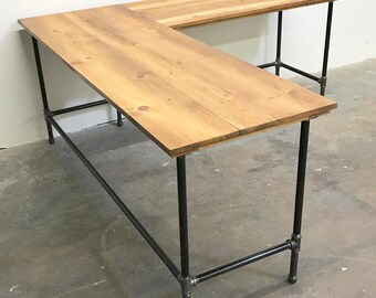 desk l shaped vintage bn b workstation computer sonoma corner white retro s style modern desks oslo ebay oak