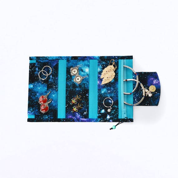 Space jewellery organizer Small jewelry holder Pocket bag