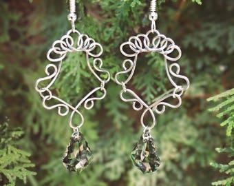Bohemian Earrings, Long Earrings, Her Charm Earrings, Long Dangle Earrings, Hippie Earrings, Long Earrings, Dangle Earrings