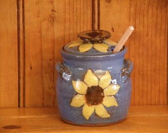 Sunflower Honey Pot