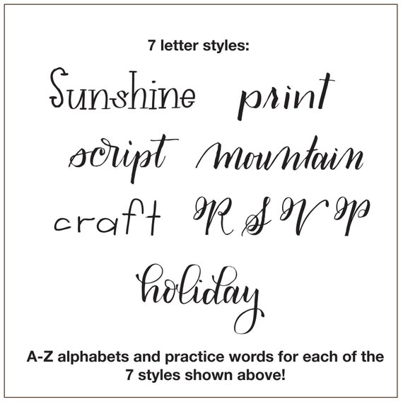 Letter Styles 2: More Lettering Alphabets with Practice Words