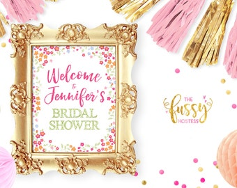 Welcome Sign, Welcome Bridal Shower Sign, Bridal Shower Decor, Bridal Shower Welcome Sign, Bridal Shower Sign, Printable Bridal Shower Sign