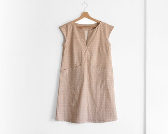 Women dresses, cotton dress, shift dress, summer dress, sustainable clothing, casual dress, made to measure, made in Italy, ethical clothing