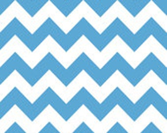 Riley Blake Chevron in Medium Blue - 1/2 yard