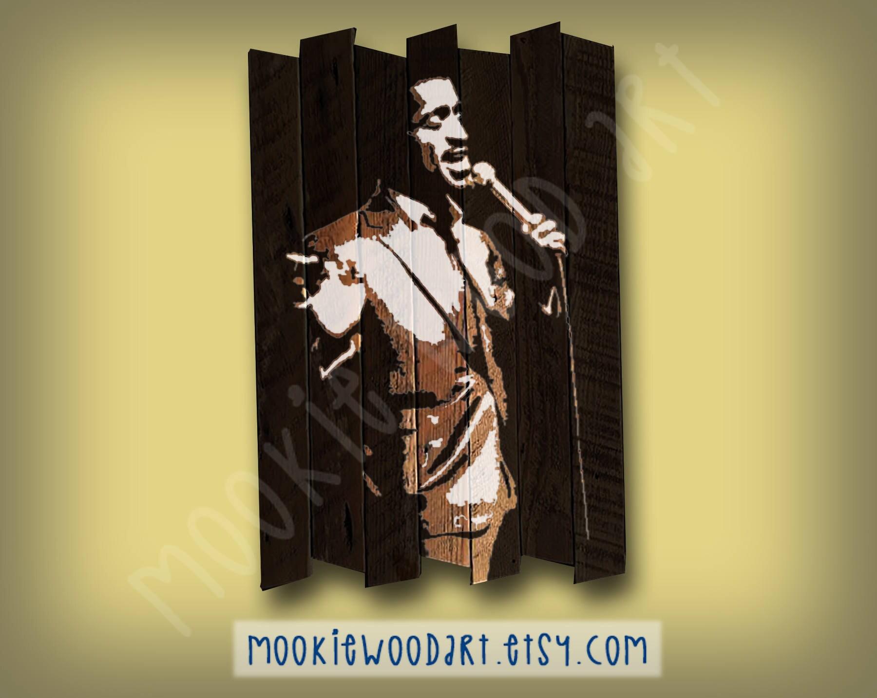 Sammy Davis Jr painting on reclaimed wood Rat Pack Mister