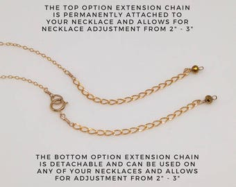 Extension chain, Extender chain, Necklace extender, Necklace extension chain, 14 k gold fill, Sterling silver, NS96