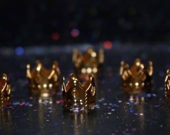 Set of 3 Gold Crown Loc Jewellery