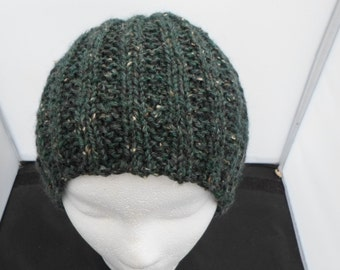 Green Tweed Wool Cap