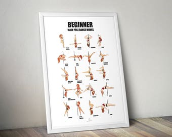 pole dance poster Beginner level