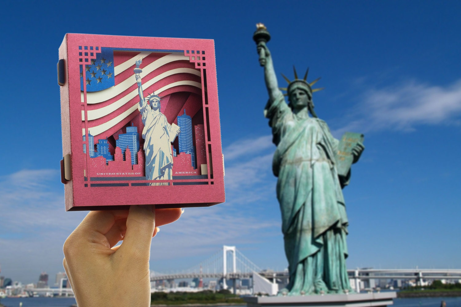 Pop Up Card 3d Card Christmas New York Gift The Statue Of