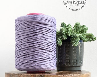 Lilac Cotton Rope - Super Soft Luxe Cotton Cord - 5mm - Cotton Rope - Macrame Rope - Diy Macrame - Rope - Weaving - Macrame