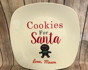 Cookies for santa plate *could be personalized
