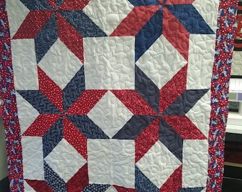 Red, White & Blue Stars quilt