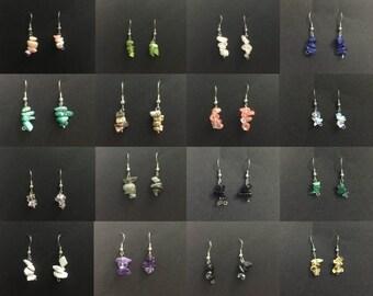Wholesale Stone Earrings.  Hypoallergenic Surgical Steel Earrings. Stone Chip Earrings. Wholesale Jewelry Earrings Bulk Jewelry Lot