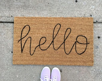 Ordinaire Doormat  Hello Doormat  Custom Doormat  Coir Doormat  Hello  Doormat   Lettering  Personalized Doormat  Porch  Porch Decor
