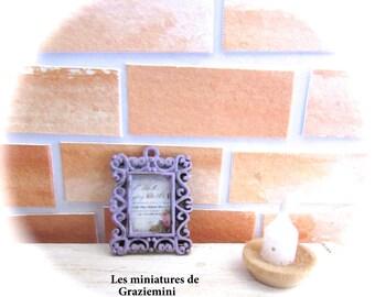 Miniature frame - scale 1:12-dollhouse miniature-