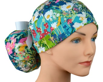 Ponytail Scrub Hats - Lavish
