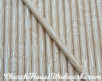 100 Wood Grain Tree Bark Paper Straws:  Drinking Paper Straws,  Birthday Party Straws,  Rustic Wedding Paper Straws