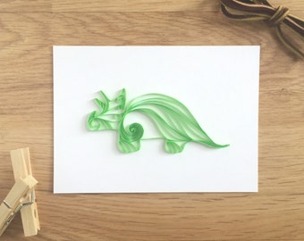 Green Triceratops Dinosaur Wall Decor, Dinosaur Nursery, Boy Room Decor, Kids Bedroom Decor, Childrens Wall Decor, Green Dino Art Paper Dino